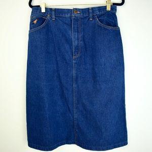 Vintage 1970s Wrangler Denim Skirt